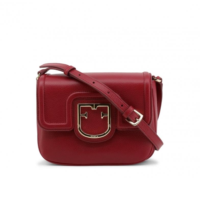Furla JOY_XS leather shoulder bag red - 20x15x8cm-