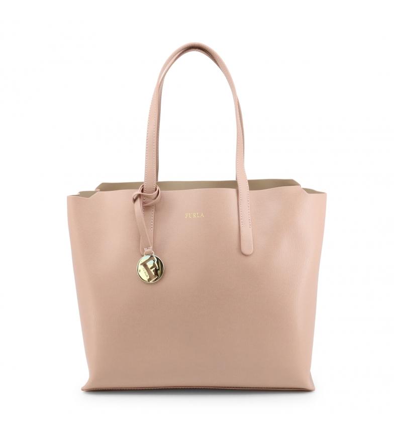 Comprar Furla SALLY_M nude leather shoulder bag -30x26x15cm