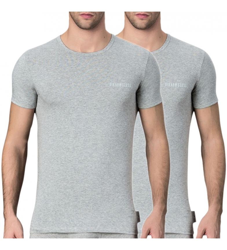 Bikkembergs Lot de 2 T-shirts VBKT04086 gris