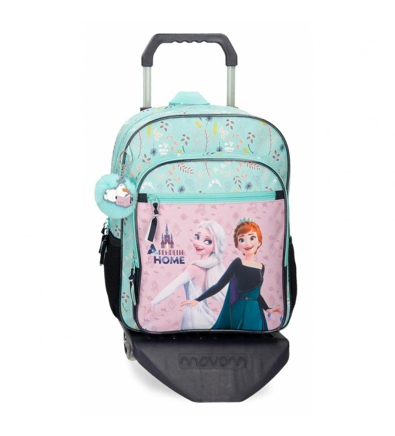 Comprar Joumma Bags Arandelle é mochila escolar em casa com carrinho verde -30x38x12cm