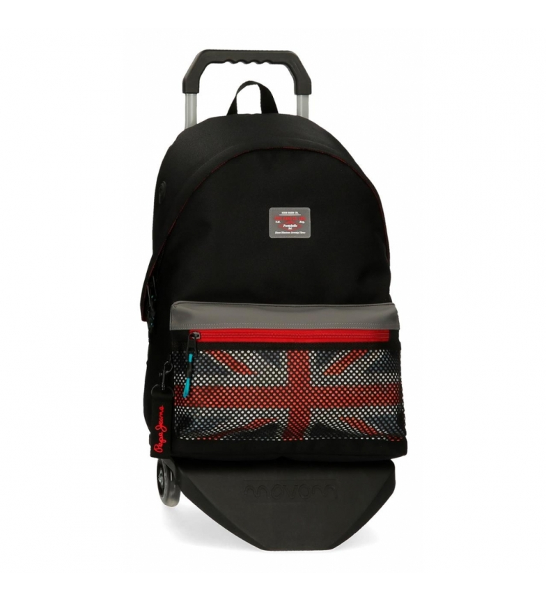 Comprar Pepe Jeans Malden School Backpack with Trolley black -31x42x17,5cm