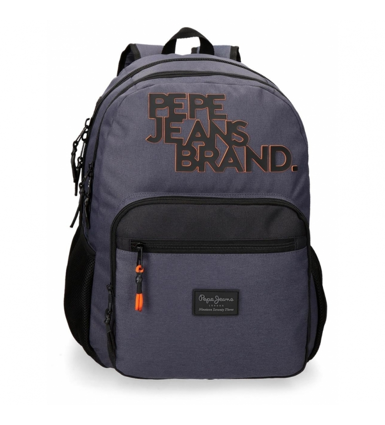 Comprar Pepe Jeans Backpack Troy Double Zipper Adaptable blue -31x46x15cm