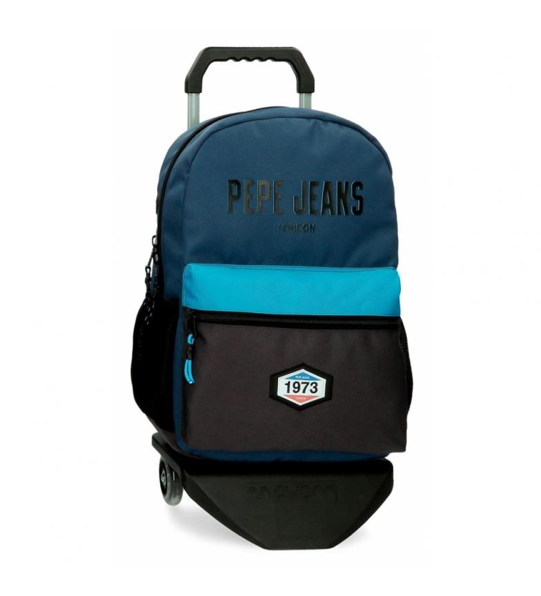 Comprar Pepe Jeans Skyler School Backpack with Trolley blue -31x44x15cm