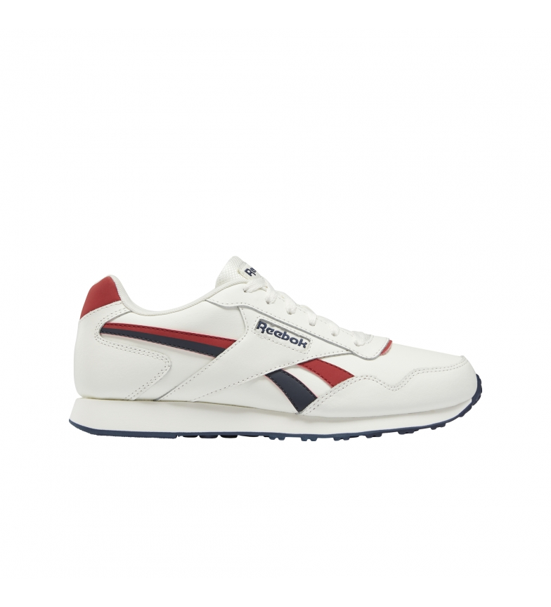 Comprar Reebok Royal Glide X tênis de couro branco, vermelho