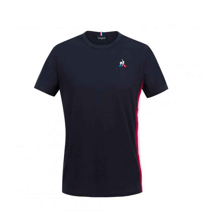 Le Coq Sportif T-shirt manica corta tricolore blu scuro