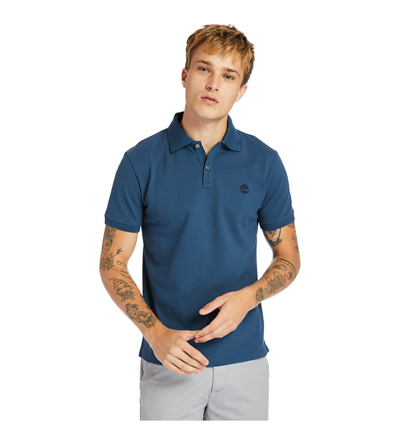 Timberland Millers Rivers short sleeve blue polo shirt