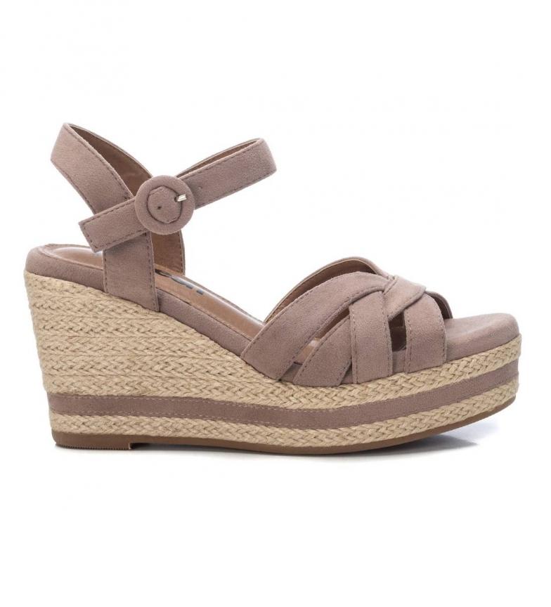 Comprar Refresh Sandálias 072636 taupe -Cunha de altura: 9cm