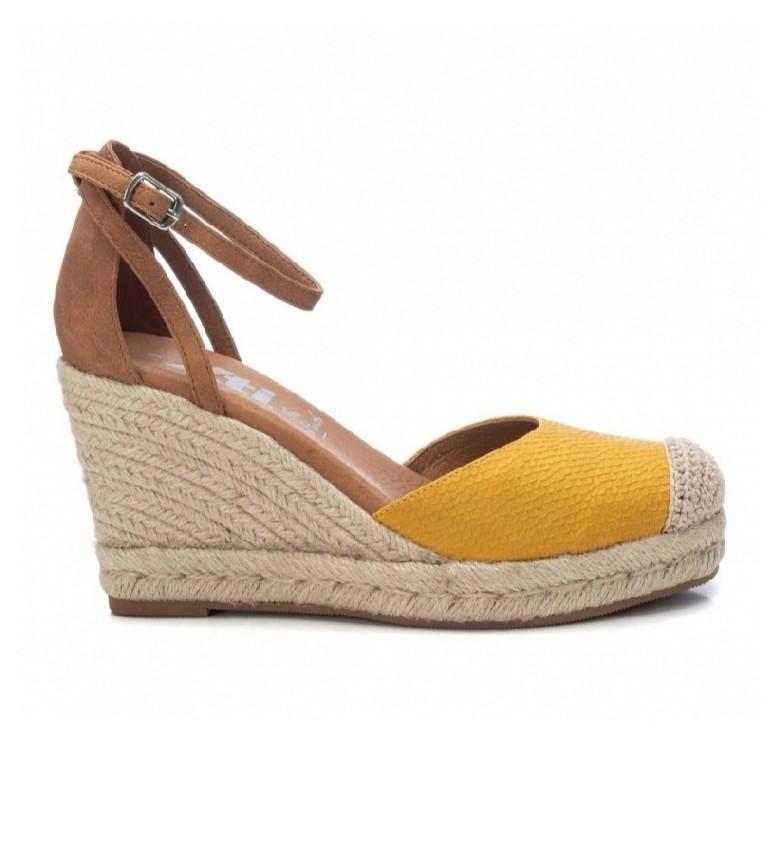 Comprar Xti Sandalias 042310 amarillo -Altura cuña 9cm-