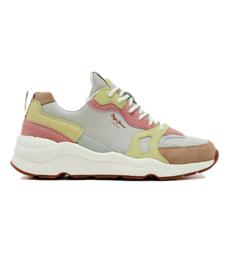 Comprar Pepe Jeans Chaussures en cuir multicolores Harlow Touch Frost