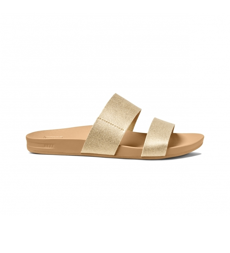 Reef Cushion Bounce Vista golden sandals