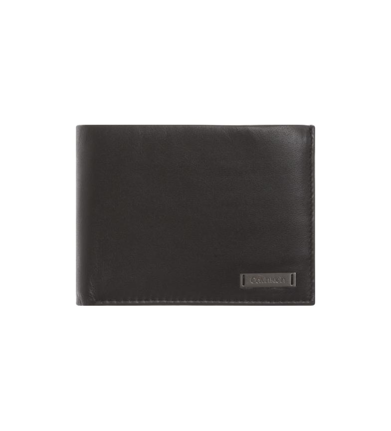 Comprar Calvin Klein Cartera de piel Smooth W negro -12,3 x 9,5 x3 cm-
