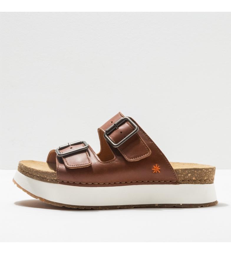 Comprar Art Brown leather sandals 1265 Mykonos