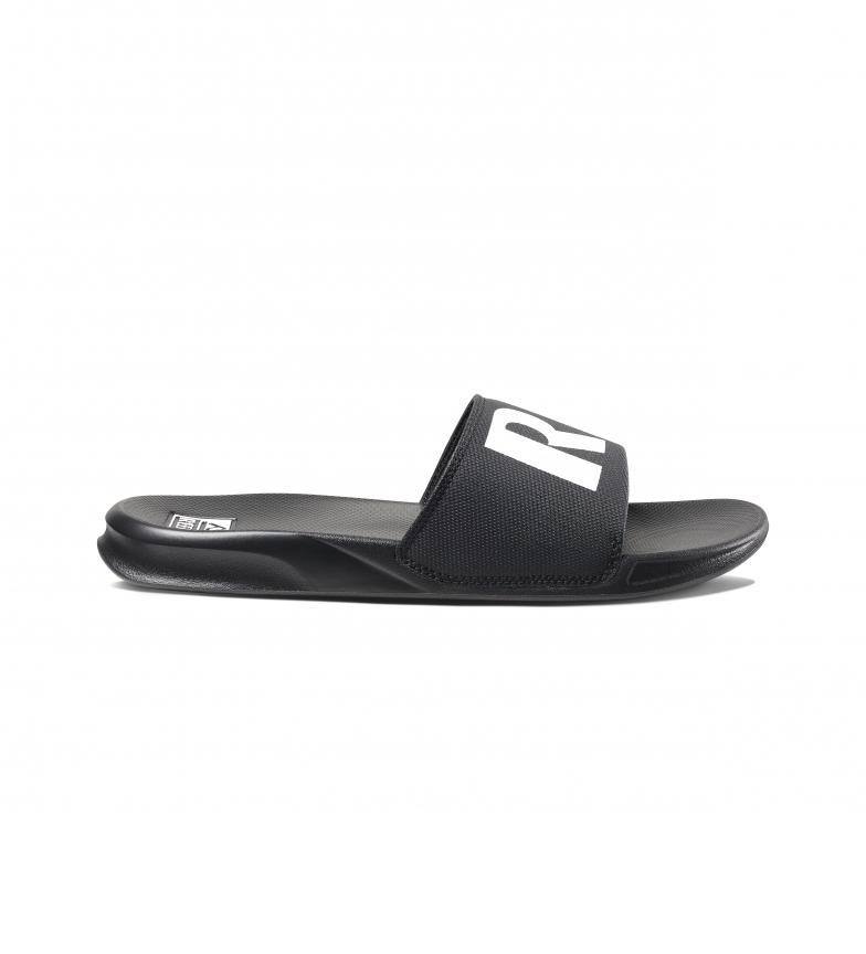 Reef Flip Flops One Slide black, white