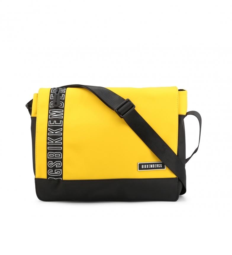 Comprar Bikkembergs Men's briefcase E2APME170052010 yellow 36x29x9cm