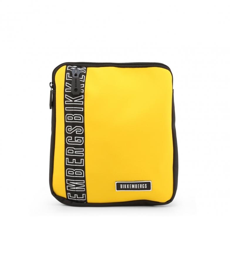 Comprar Bikkembergs Saco de mensageiro cruzado para homem E2APME170032010 amarelo 23x27x3cm
