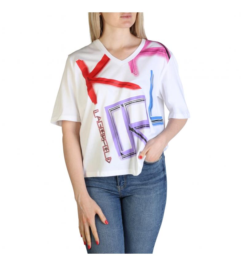 Comprar Karl Lagerfeld KL21WTS02 T-shirt branca, multicolor