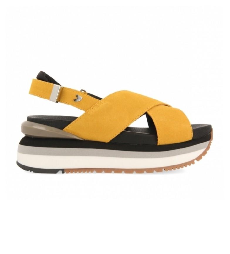Gioseppo Sandales Cayce en cuir jaune