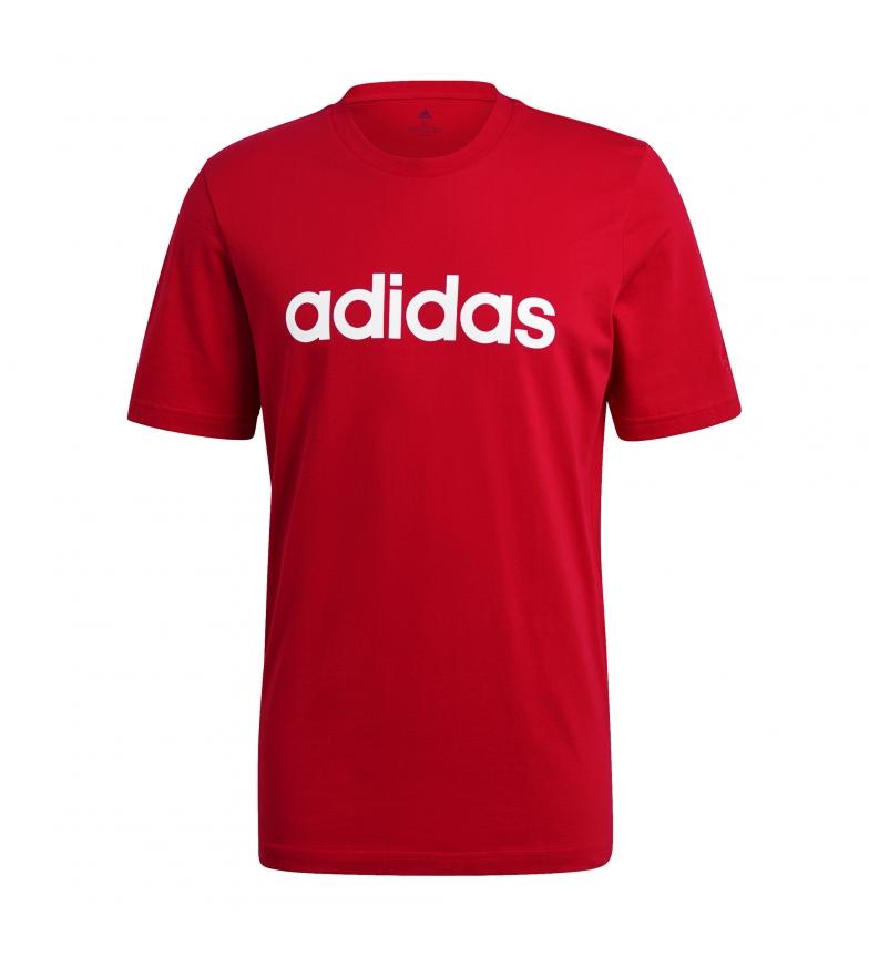 adidas Camiseta Essentials Embroidered Linear Logo rojo
