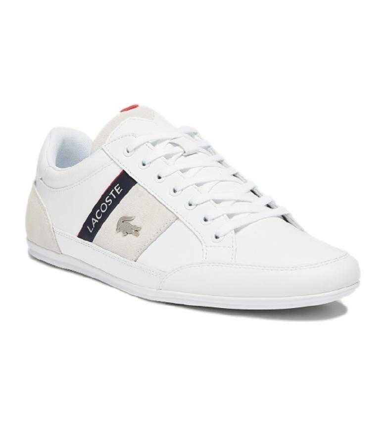 Comprar Lacoste Chaymon 0721 2 CMA scarpe da ginnastica in pelle bianca, blu navy