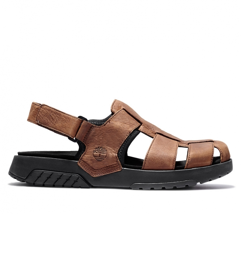 Timberland Anchor Watch Fisherman Leather Sandals Brown