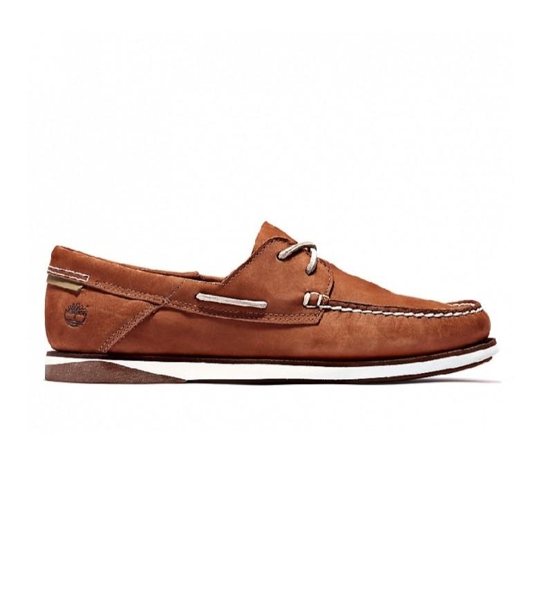 Comprar Timberland Sapatos de barco em couro Atlantis Break brown
