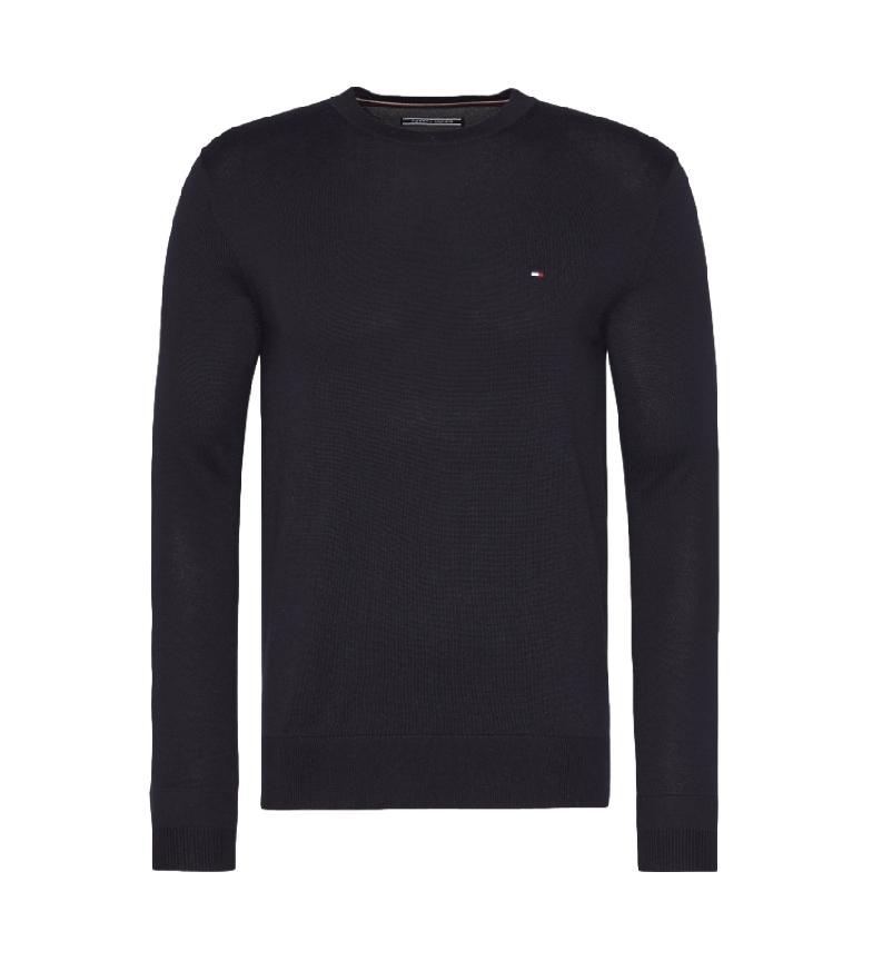 Tommy Hilfiger Jersey Core Cotton-Silk Cneck marino
