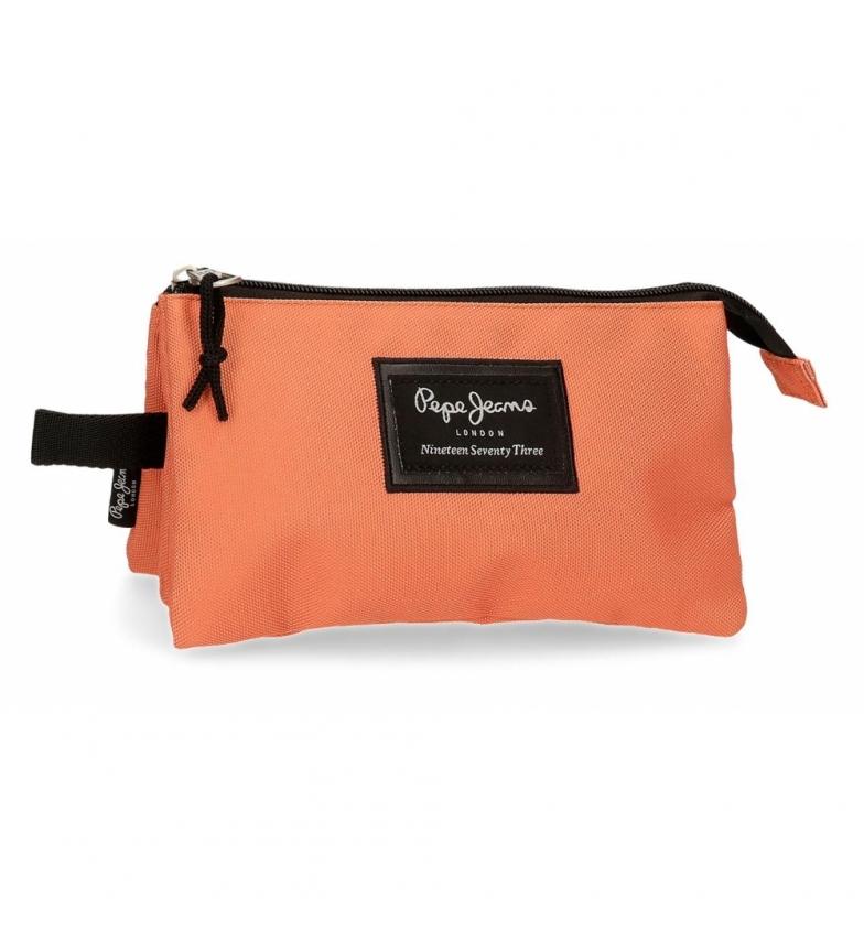 Pepe Jeans Trousse à crayons à trois compartiments 6334329 orange - 22x12x5cm - - -