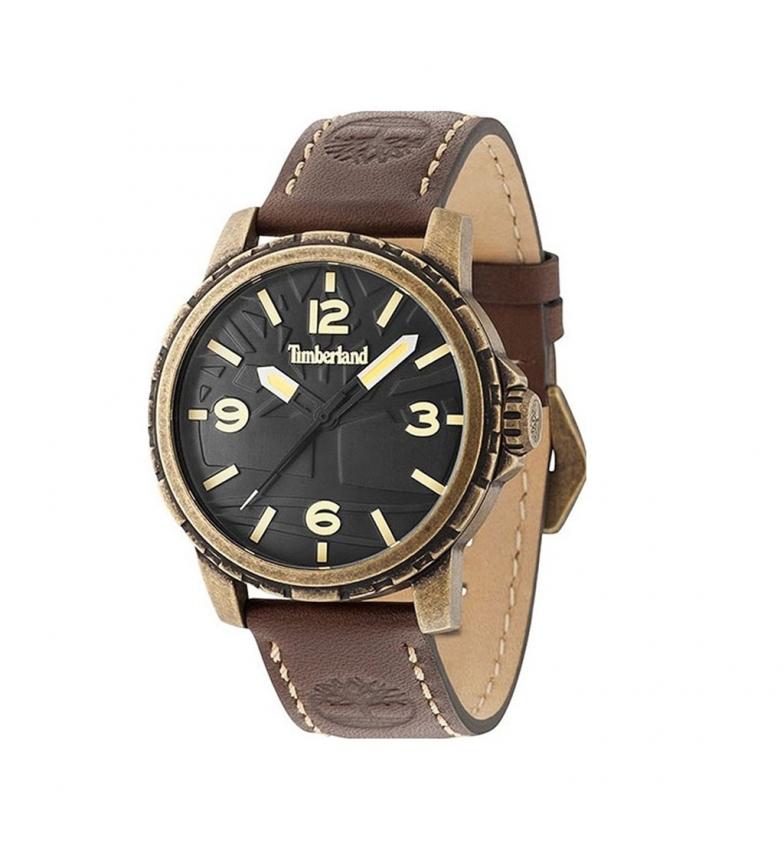 Timberland Leather analog watch 15257JSA brown