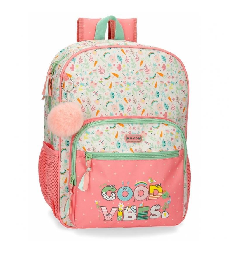 Joumma Bags Mochila Good Vibes rosa, multicolor -30x38x12cm-