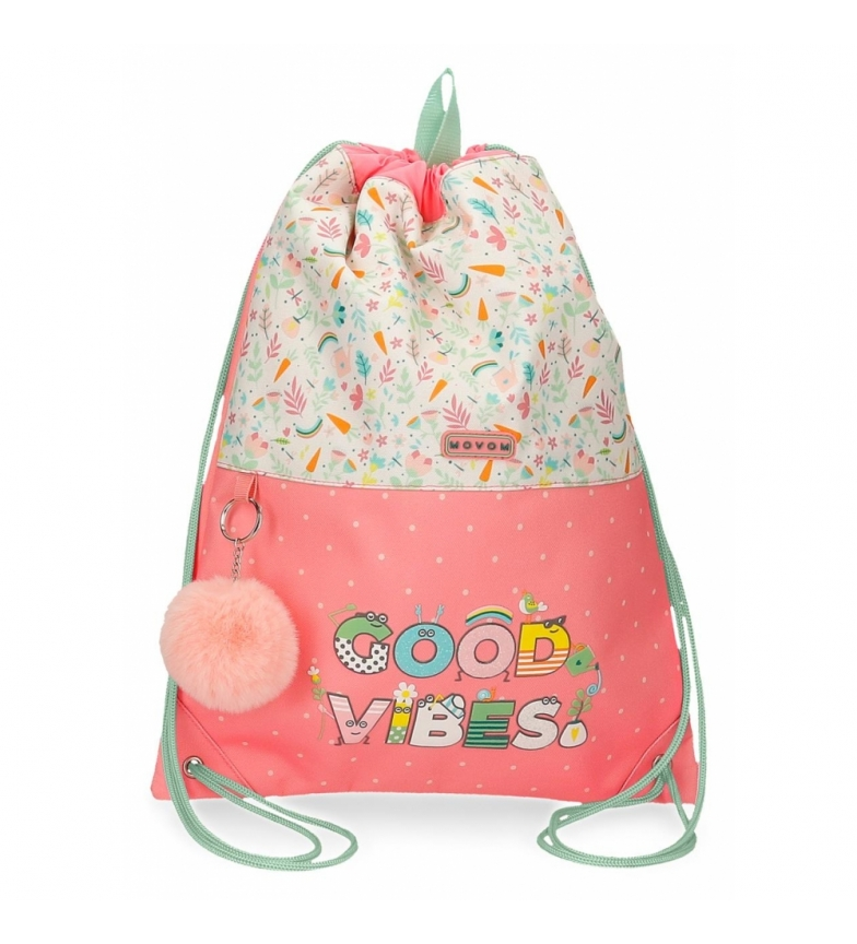 Joumma Bags Mochila sacoGood Vibes rosa, multicolor -32x42x0.5cm-