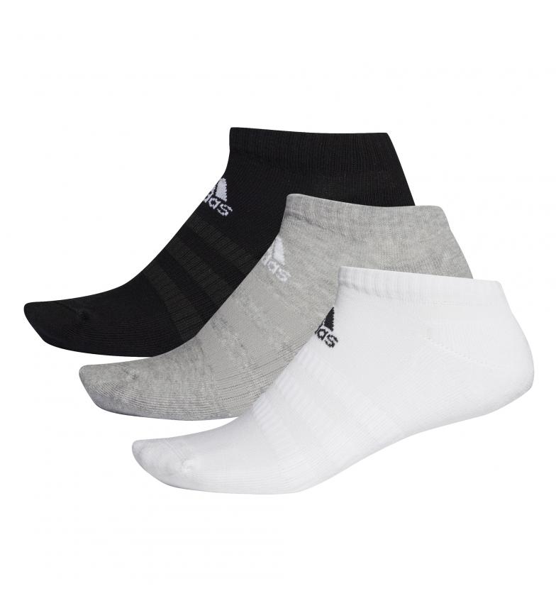 adidas Confezione da 3 calzini CUSH LOW 3PP bianco, nero, grigio