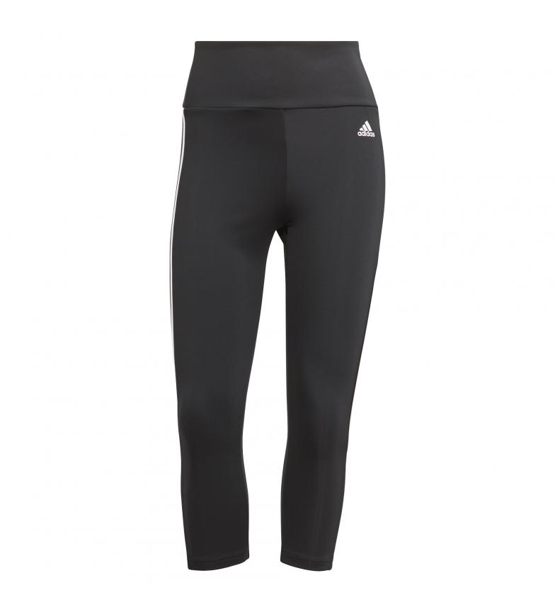 Comprar adidas Projetado para mover 3/4 meias-calças de 3 bandas altas preto