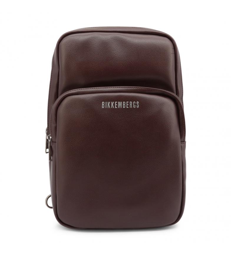 Bikkembergs Saco de ombro E2APME210032 castanho -20x32x8,5cm