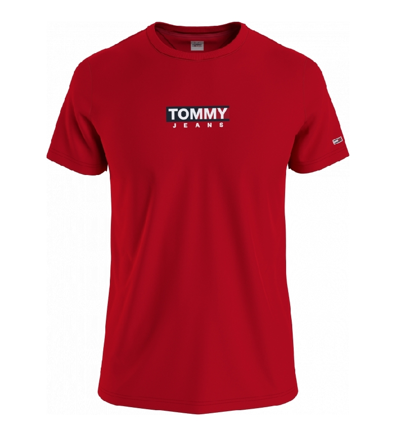 Tommy Hilfiger T-shirt rossa con stampa TJM Entry