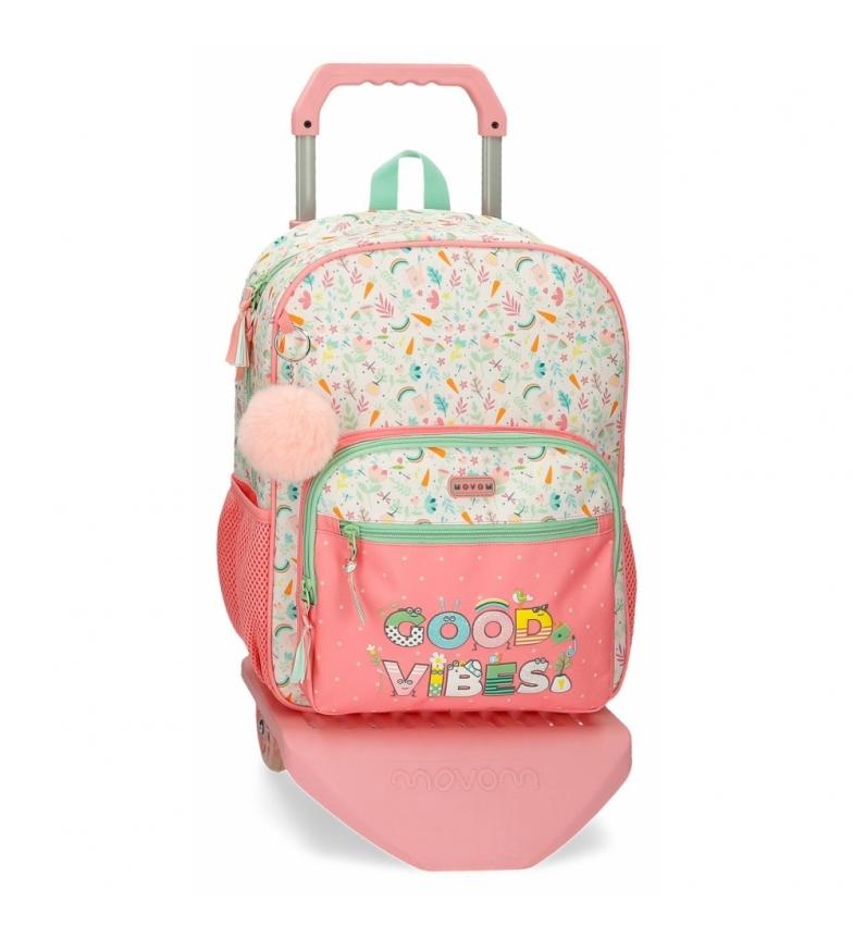 Joumma Bags Movom Good Vibes carrinho de mochila rosa -30x38x12cm