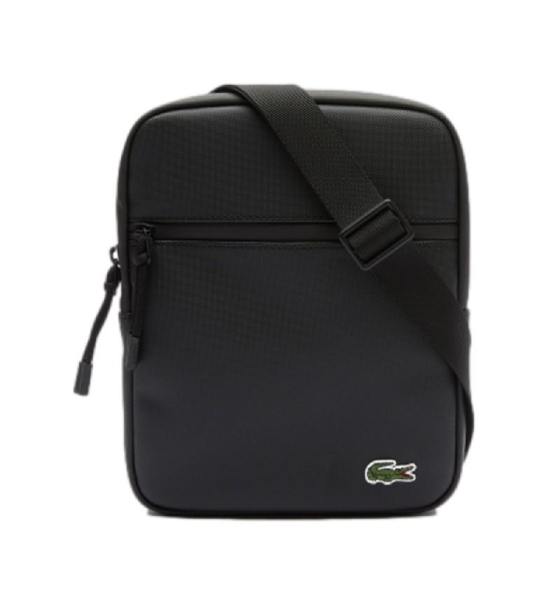 Lacoste Crossover Flat shoulder bag black -20x25,5x4 cm