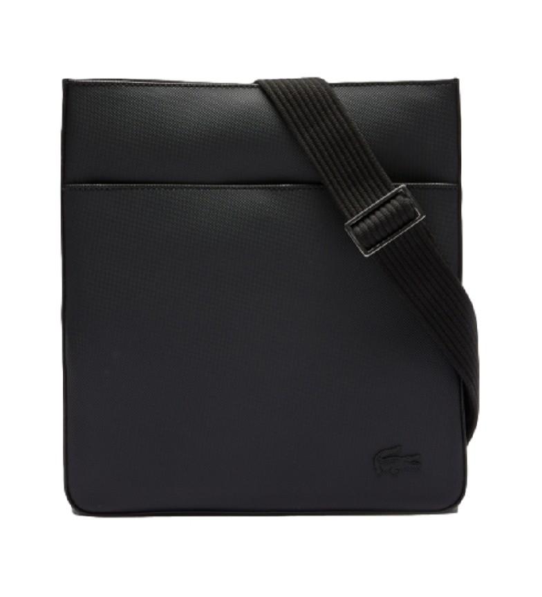 Lacoste Bolso plano negro -26 x 28 x 3 cm-