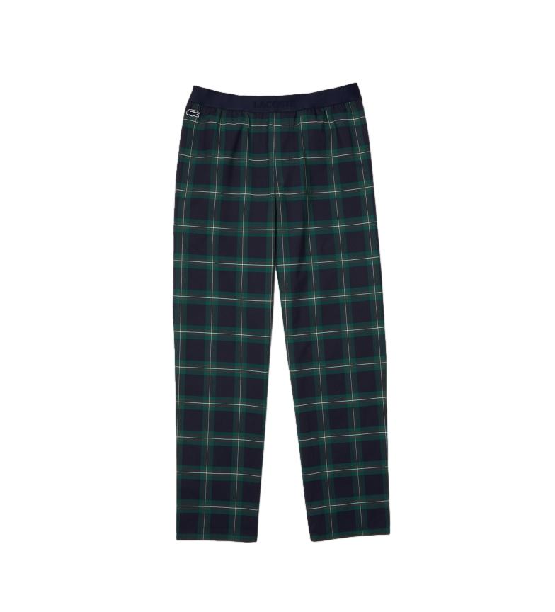 Lacoste Calças de pijama da Marinha Plaid