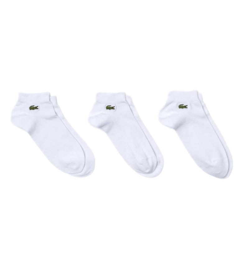 Lacoste Pack of 3 white socks