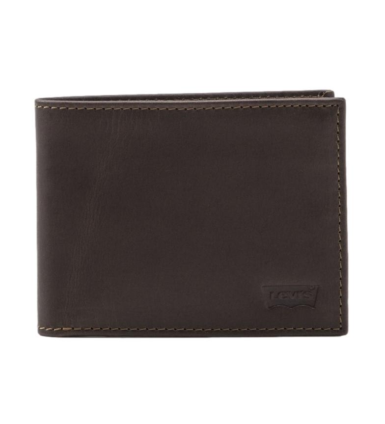 Comprar Levi's Leather wallet Batwing dark brown -11x2x8,5cm