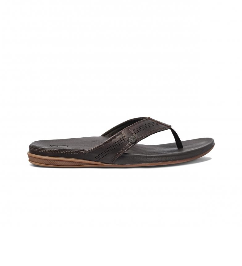 Reef Sandálias de couro Almofada Bounce Lux Brown