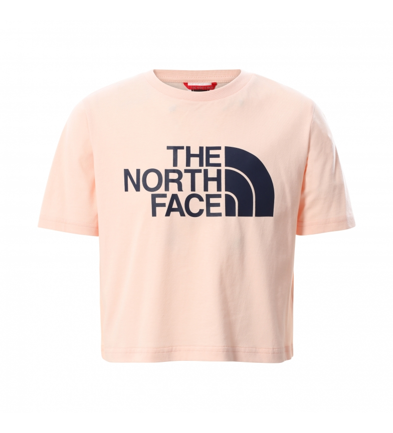 The North Face T-shirt Girl Easy Cropped rosa pallido