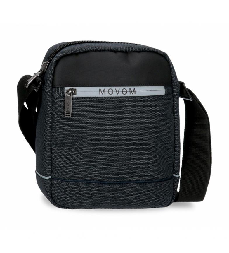 Movom Trimmed shoulder bag black -17x22x6cm