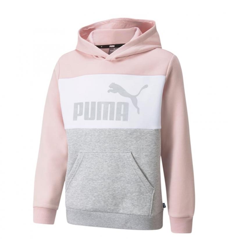 Puma Sweatshirt ESS+ Colorblock rosa, branco, cinza