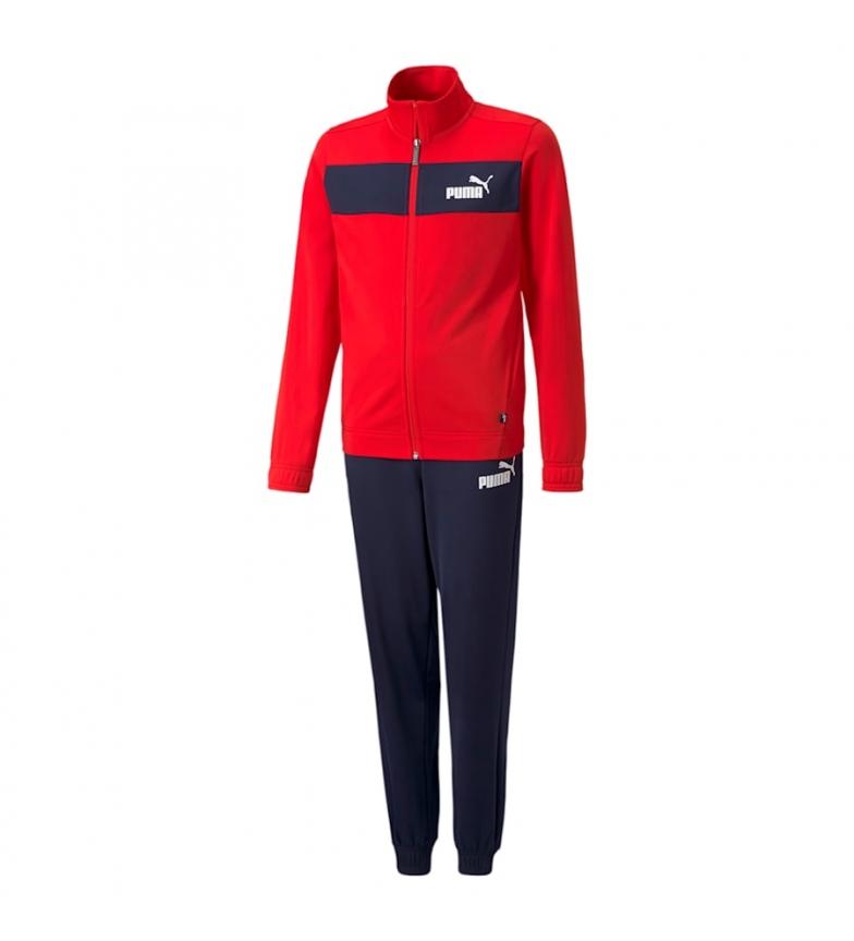 Puma Tuta Poly Suit cl B rosso, nero
