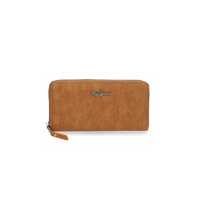 Pepe Jeans Portefeuille Aure brun -20 x 10 x 2 cm