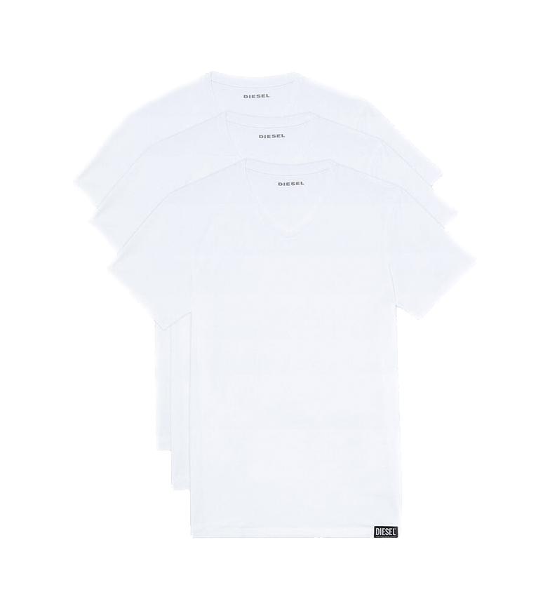 Diesel Confezione da 3 magliette bianche UMTEE-Michael