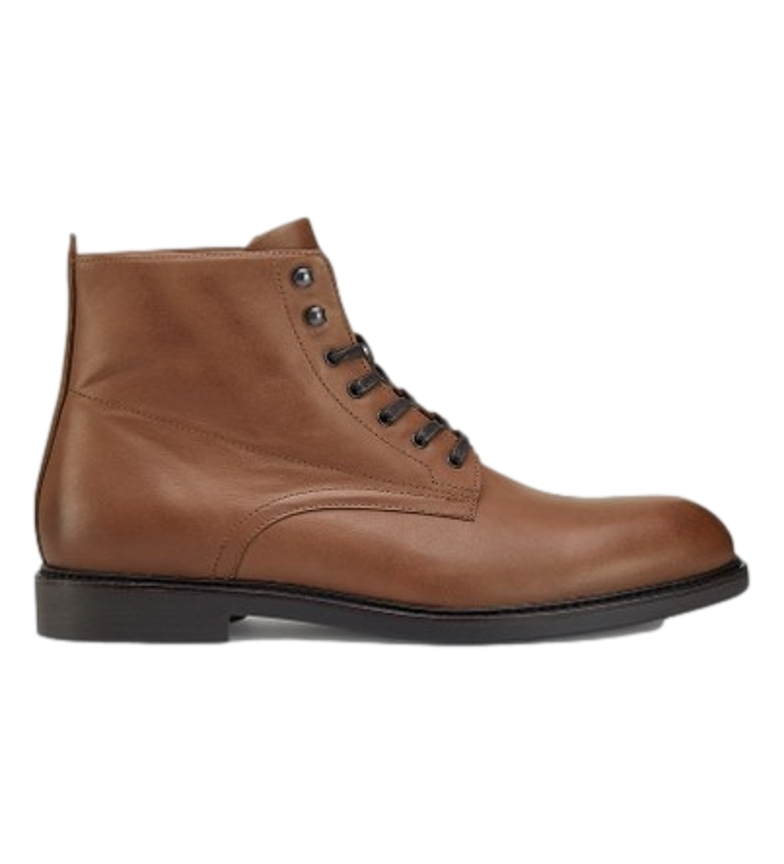 HACKETT Holiday brown leather boots