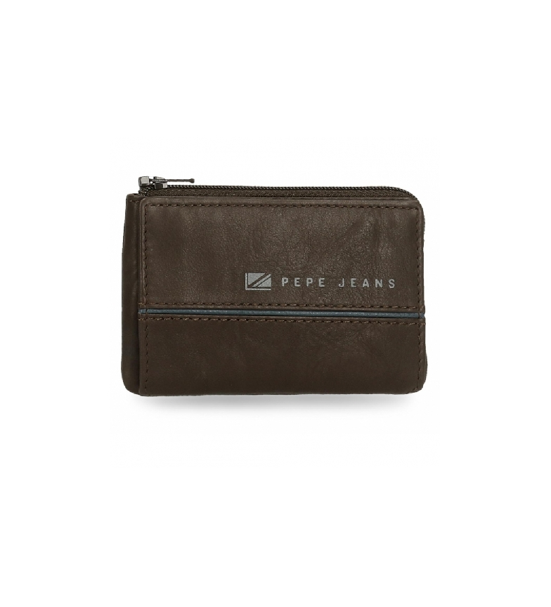 Pepe Jeans Middle purse brown - 11 x 7 x 1,5 cm