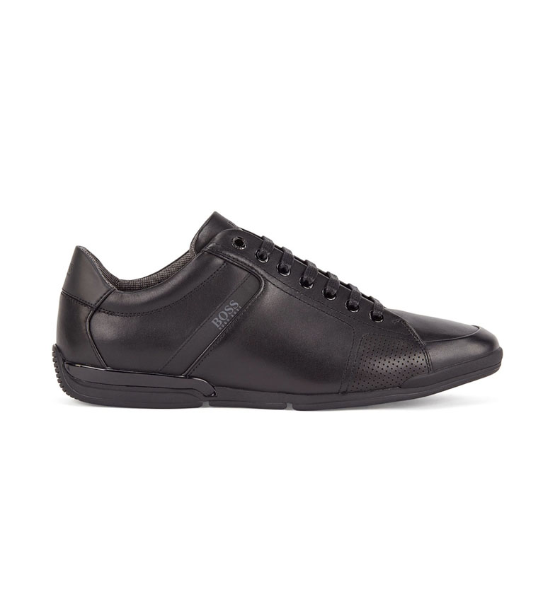 Hugo Boss Zapatillas de piel Saturn Lowp Lux4 negro